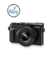 מצלמה קומפקטית 12.8MP כולל מייצב תמונה + וידאו 4K תוצרת Panasonic דגם Lumix DMC-LX100