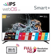 "טלוויזיה 43"" Smart TV FULL HD Slim LED עם פאנל IPS , מעבד 400PMI תוצרת LG דגם 43LF590Y"