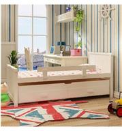 מיטת ילדים נפתחת מעץ מלא משולב עם מיטה נשלפת HOME DECOR דגם גריפ
