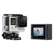 מצלמת גו פרו הראשונה בעולם עם מסך מגע צבעוני מובנה! תוצרת GoPro דגם HERO4 Silver