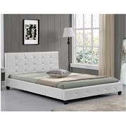 מיטה זוגית מעוצבת בריפוד דמוי עור תוצרת HOME DECOR דגם אורלי
