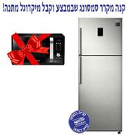 מקרר 2 דלתות מקפיא עליון 402 ליטר No Frost מדחס אינוורטר תוצרת Samsung דגם RT38K5452SP/WW