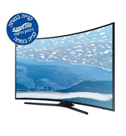 "טלוויזיה 55"" מסך קעור Curved UHD TV-SMART TV Slim LED תוצרת SAMSUNG. דגם UE55KU7350"