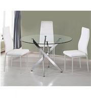 שולחן פינת קפה יפייפה בעיצוב מודרני יוקרתי המשלב ניקל וזכוכית מחוסמת מבית SIRS דגם TB-014