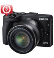 """מצלמה ללא מראה 24MP מסך מגע 3"""" + עדשה 18-55mm תוצרת CANON דגם EOS M3"""