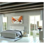 חדר שינה כולל:מיטה זוגית 140X190, שתי שידות לילה , שידת איפור ומראה העשויים MDF דגם SUMMER