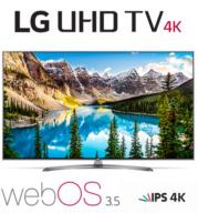 "טלוויזייה ""65 LED Smart TV 4K Ultra HD עם פאנל IPS תוצרת LG דגם 65UJ670Y"