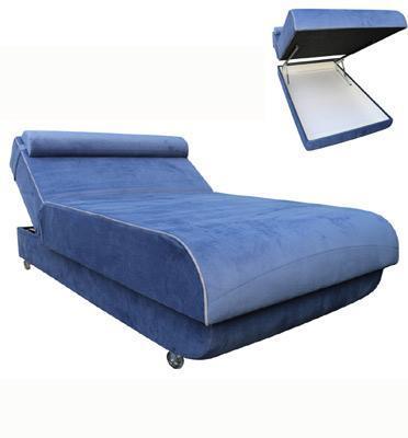 ספה ברוחב וחצי מעוצבת אורטופדית מסדרת HR ללא קפיצים ארגז מצעים מעוגל מבית Or-Design דגם סילבר