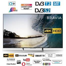 """טלויזיה """"65 SMART TV 4K בעיצוב Slim Aluminum Bezel תוצרת SONY דגם KD-65XE7096 מתצוגה"""