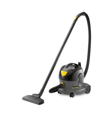 שואב אבק יבש קומפקטי ושקט במיוחד, מותאם לבתי מלון, ניתן לעבוד ללא שקיות מבית KARCHER דגם T 7/1