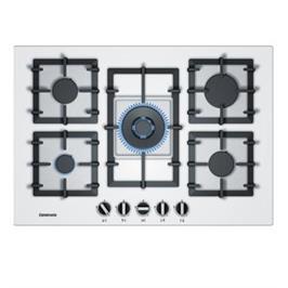 """כיריים גז 5 להבות זכוכית מחוסמת לבנה 75 ס""""מ תוצרת CONSTRUCTA דגם  CA264621IL"""