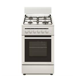 תנור משולב כיריים 4 תוכניות אפייה כולל טורבו אקטיבי צבע לבן תוצרת PRINCE דגם 5403W