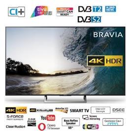 """טלוויזיה """"55 4K Edge LED Frame Dimming SMART TV תוצרת Sony דגם KD-55XE7005BAEP"""