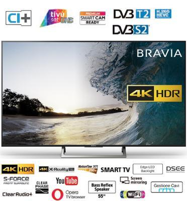 "טלוויזיה ""55 4K Edge LED Frame Dimming SMART TV תוצרת Sony דגם KD-55XE7005BAEP מתצוגה"