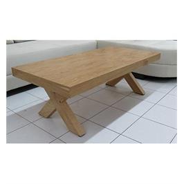 שולחן סלוני מעוצב בקווים ישרים עם רגלי איקס דגם אלמה מבית Or-Design