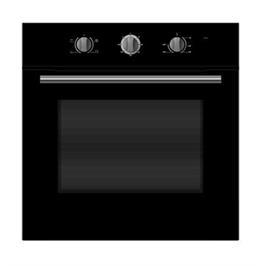 תנור אפייה בנוי תא XL גדול במיוחד 70 ליטר ציפוי אמייל 6 תוכניות תוצרת Midea דגם 65CME10004