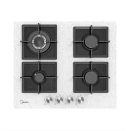 """כיריים גז ברוחב 60 ס""""מ 4 להבות בישול זכוכית מחוסמת תוצרת Midea דגם 60G40ME007-GFT SAND"""