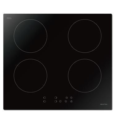 """כיריים אינדוקציה ברוחב 59ס""""מ 4 מוקדי בישול זכוכית מחוסמת 9 עוצמות תוצרת Midea דגם MC-IF3017B1-A"""