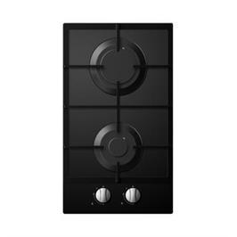 """כיריים גז דומינו ברוחב 30 ס""""מ 2 להבות בישול זכוכית מחוסמת תוצרת Midea דגם 30G20MA060-GFN BLACK"""