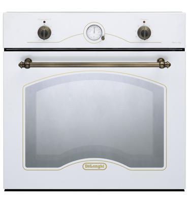 תנור אפיה בנוי בעיצוב כפרי בצבע לבן 8 תוכניות תוצרת Delonghi איטליה דגם NDB342W