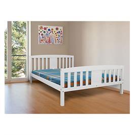 מיטה זוגית מעץ אורן מלא,עם משענת גב מעוצבת  מבית bradex דגם DEYA