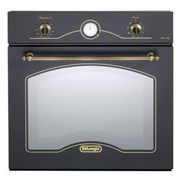 תנור אפיה בנוי בעיצוב כפרי בצבע שחור פחם 8 תוכניות תוצרת Delonghi איטליה דגם NDB342AN