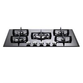 """כיריים גז ברוחב 75 ס""""מ משטח זכוכית שחורה 5 להבות תוצרת DELONGHI איטליה דגם NDG39N"""