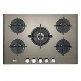 """כיריים גז ברוחב 75 ס""""מ משטח זכוכית חול 5 להבות תוצרת DELONGHI איטליה דגם NDG39SE"""