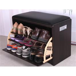 שידת התארגנות וישיבה מרופדת הכוללת תא לאחסון נעליים תוצרת HOMAX דגם אריאל
