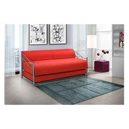 ספת ילדים ונוער על קל נפתחת למיטה זוגית תוצרת LEONARDO דגם אדומית