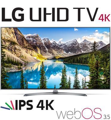 """טלוויזיה חכמה """"60 LED Smart TV ברזולוציית 4K Ultra HD עם פאנל IPS תוצרת LG דגם 60UJ752Y"""