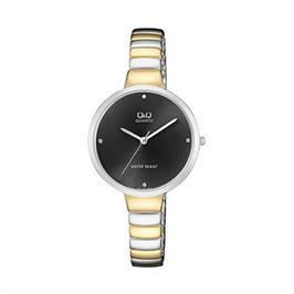 שעון יד טוטון אופנתי לאישה בעיצוב קלאסי עמיד במים מבית Q&Q דגם QS-F611J402Y
