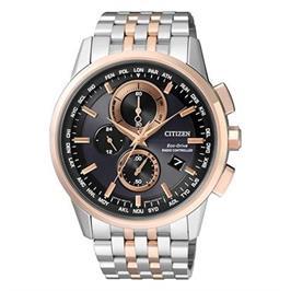 שעון רדיו קונטרול סולארי עשוי פלדת אל חלד וזכוכית ספיר מבית CITIZEN דגם CI-AT811665E