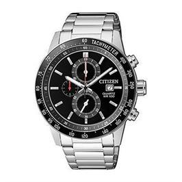 שעון כרונוגרף לגבר עשוי פלדת אל חלד ועמיד במים עד 100M מבית CITIZEN דגם CI-AN360059E