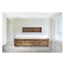 מיטה זוגית עשויה עץ אורן מלא + מזרן מתנה מבית אולמפיה דגם 5015