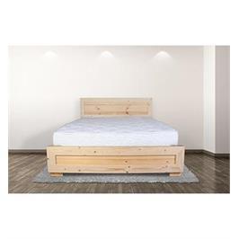מיטה זוגית עשויה עץ אורן  מלא + מזרן מתנה מבית אולמפיה דגם 5017