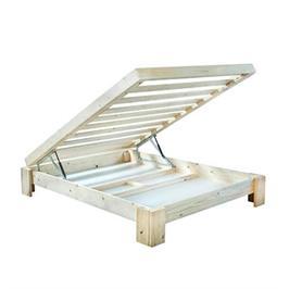 בסיס מיטה מעץ אורן  + ארגז מצעים מבית אולמפיה
