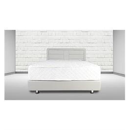 מיטה זוגית מרופדת בעלת יחודי לבנים לאורך ולרוחב מבית אולפמיה דגם 6001
