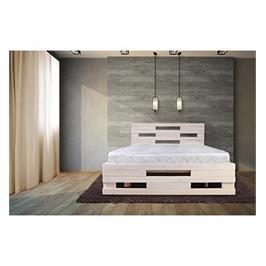 מיטה זוגית מעץ מלא מבית אולמפיה דגם 5004+מזרן אורתפדי והרכבה במתנה!