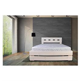מיטה זוגית מעץ אורן מלא מבית אולמפיה דגם 5005+מזרן אורתפודי והרכבה במתנה!