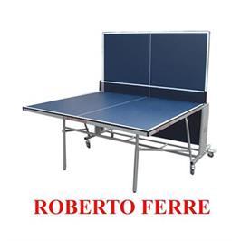 """שולחן טניס פנים מסגרת מתכת 30 מ""""מ היקפית,להגנה מלאה מבית ROBERTO FERRE דגם  Silver frame 2"""