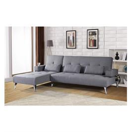 מערכת ישיבה פינתית מרשימה נוחה ואיכותית בד פשתן הנפתחת למיטה גדולה מבית הום דיזיין דגם יותם