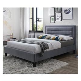 מיטה רחבה לנוער מרופדת בד קטיפתי עם בסיס מעץ מלא בעיצוב מודרני  HOME DECOR דגם פונט 120