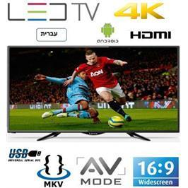 """טלויזיה """"65 UHD SMART TV 4K צבע שחור תוצרת LENCO דגם LD65AN4K/EL"""