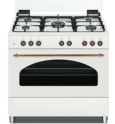 תנור אפיה משולב 9 תכניות גימור כפרי מהודר בז' תוצרת Normande דגם NR-9060