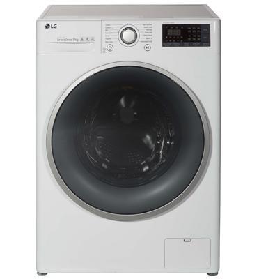 """מכונת כביסה פתח חזית 9 ק""""ג 1,400 סל""""ד מנוע INVERTER תוצרת LG דגם F0914WW"""