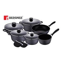 סט סירים 10 חלקים בצבע שחור מבית BERGNER דגם 930306