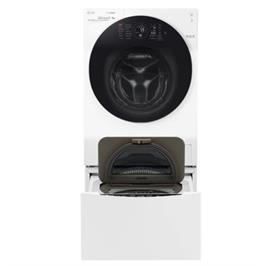 """מכונת הכביסה הכפולה 12ק""""ג+2ק""""ג עם מייבש 8 ק""""ג פתח חזית Twin Wash תוצרת LG דגם F1208CWT/M"""
