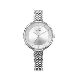 שעון מוכסף אופנתי לאישה עם זכוכית ספיר עמיד במים עד 30 מטר מבית ADI דגם 14-2458-183