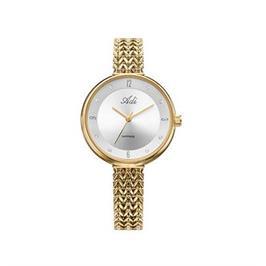שעון מוזהב אופנתי לאישה עם זכוכית ספיר עמיד במים עד 30 מ' מבית ADI דגם 14-2458-383